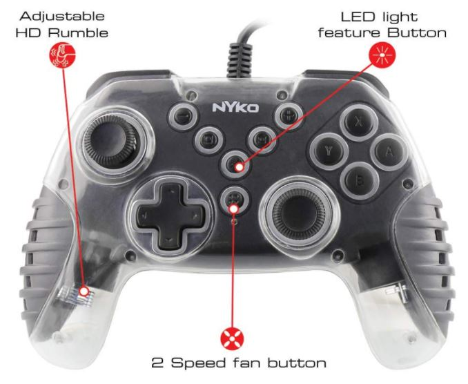 Nyko Air Glow LED Fan-Cooled Wired Controller