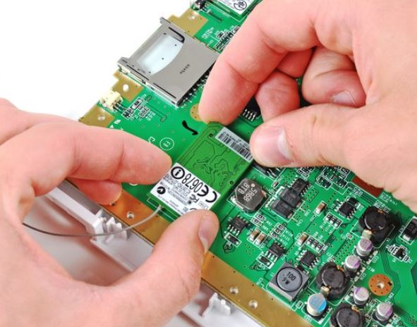 Removing-the-wii-u-Bluetooth-Board-and-Motherboard