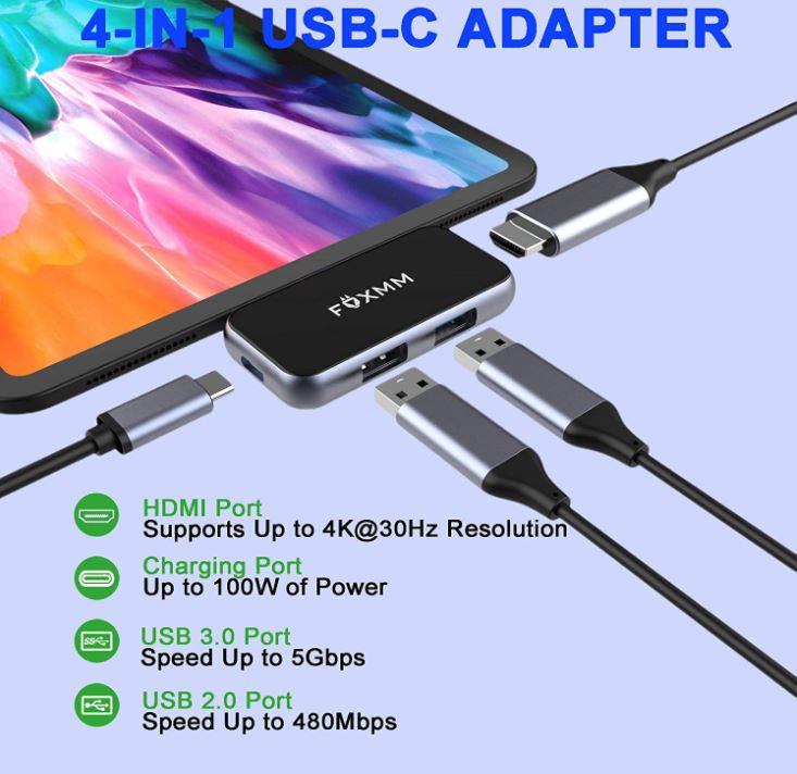 FOXMM USB-C to HDMI Adapter
