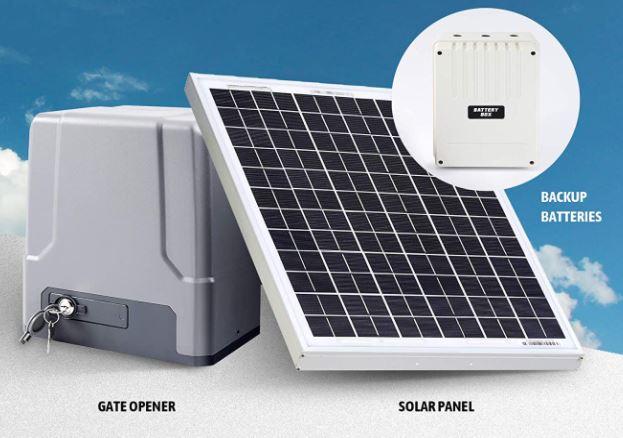 CO-Z Solar Powered Sliding Gate Opener