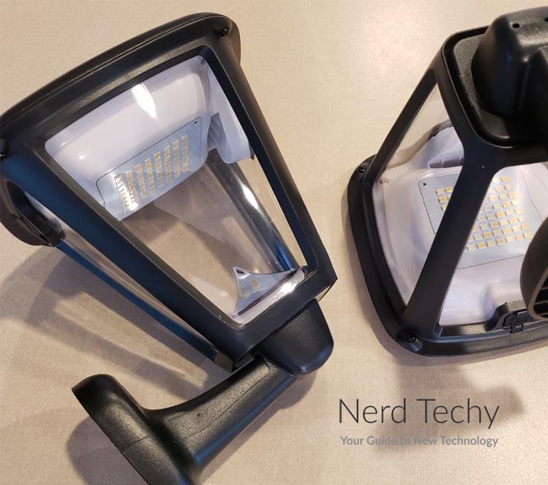 LITOM Outdoor Solar Wall Lantern Lights