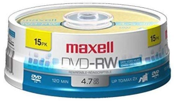 Maxell Rewritable Superior Archival Life dvd rw