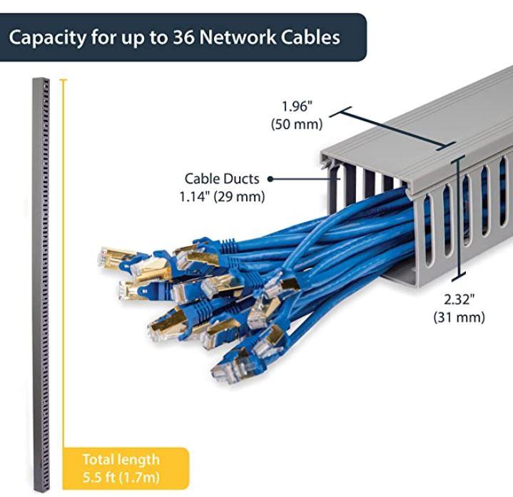 StarTech.com Server Rack Cable Management Finger Duct
