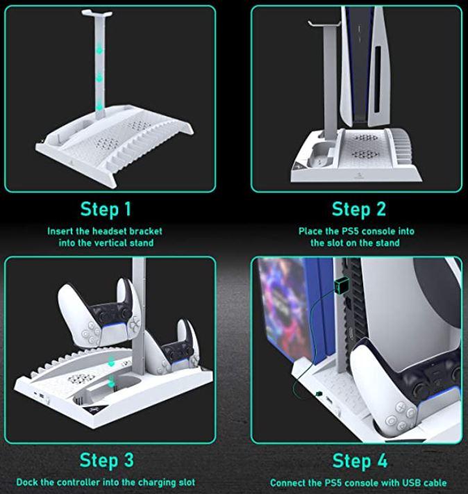 NexiGo PS5 Upgraded Vertical Stand