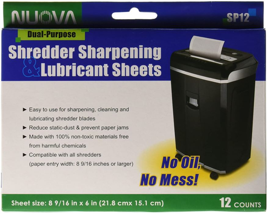 Nuova Shredder Sharpening Lubricant Sheets