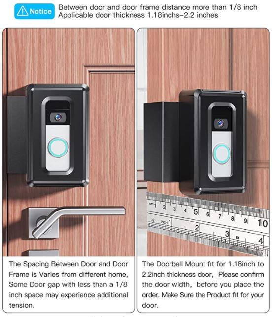 DG-Direct Anti-Theft Video Doorbell Door Mount
