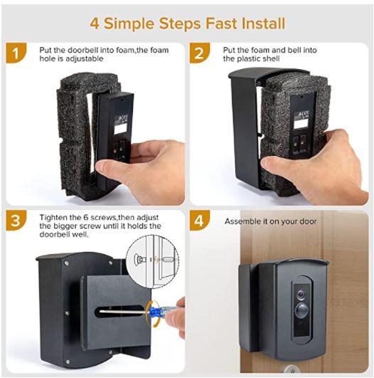 PATEKESA Anti-Theft Video Doorbell Mount