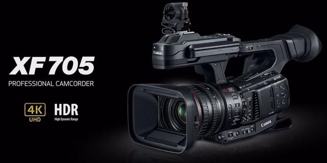 First-Look Review of the Canon XF705 4K Professional Camcorder
